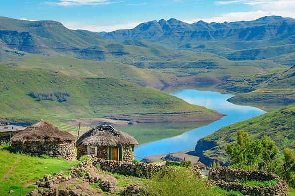 כפר מסורתי בלסוטו