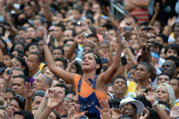 אלפי מאמינים חוגגים לישו במרכז ריו דה ז'ניירו