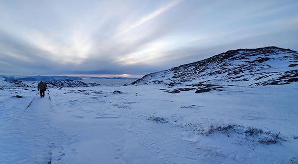 גרינלנד, תחילת מרץ 2020. עולם מולא של קרח ושלג