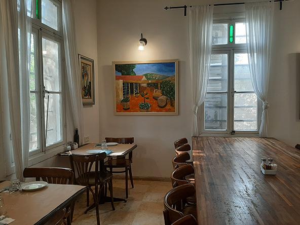 בית הקפה של יקב תשבי ברחוב המייסדים