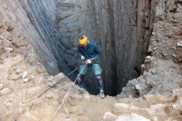 גלישה במערת מלח