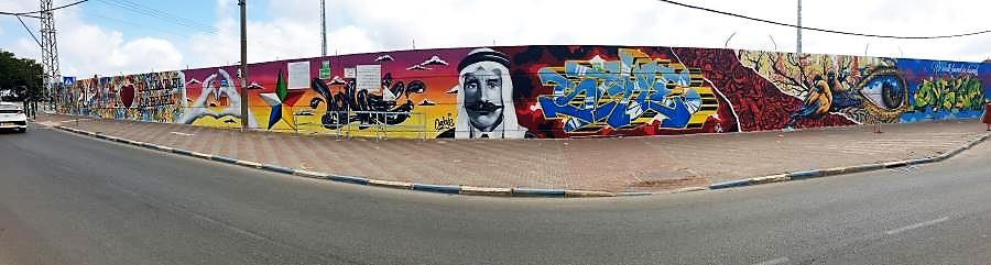 קיר הגראפיטי הארוך בישראל. צילום: שחר אל עמי
