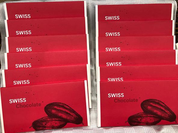 לרגל חידוש טיסות SWISS לתל אביב, התכבדו הנוסעים היוצאים בטיסה הראשונה בשוקולדים שוויצריים, שנחתו לפנות בוקר מציריך במיוחד עבורם