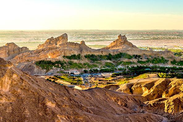 הנוף באזור אל עין,במזרח אבו דאבי