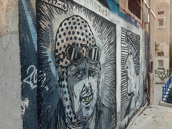 ציור קיר ברחוב מסדה