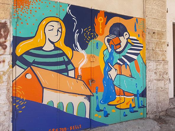 אמנות רחוב ברחוב סירקין, שוק תלפיות