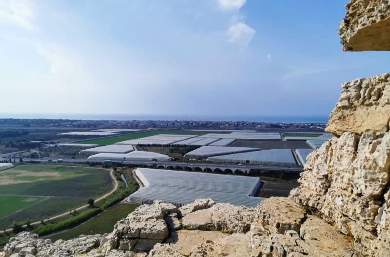 מבט מחוטם הכרמל אל חוף הכרמל. צילומים: רונן רז