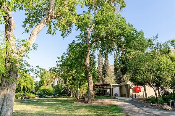 אירוח כפרי בבית אלפא. ירוק בחוץ, נעים בפנים