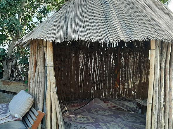 בקתת נידה במרכז המבקרים של החוויה האתיופית | צילום: רותם בר כהן