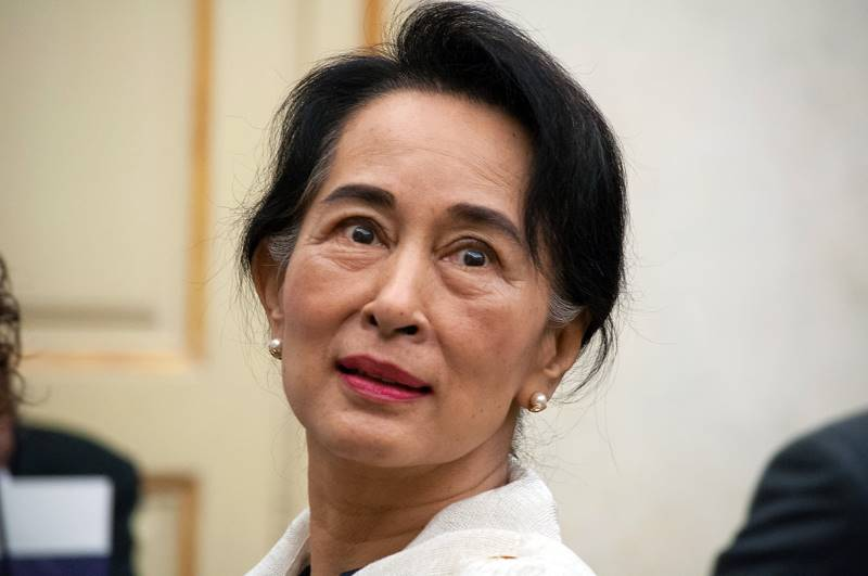 אאונג סאן סו צ'י, פעילת זכויות האדם המאוד פעילה במיאנמר (בורמה)