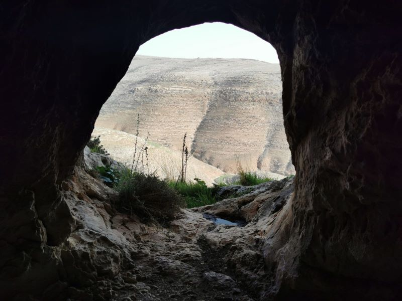 Monks' solitary nests in Wadi Uja
