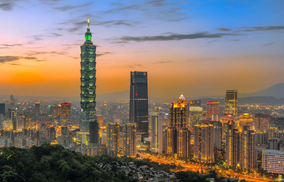 Photo: View of Taipei 101 from Elephant Mountain Photo credit: Shutterstock.com / FenlioQ