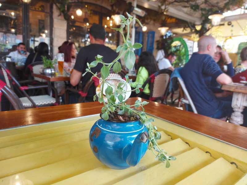 המרפסת של מסעדת שטרודל