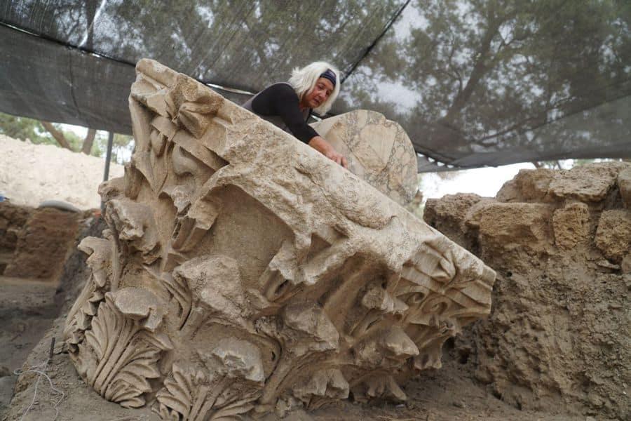 בזיליקה מפוארת מלפני 2,000 שנה נחשפה בתל אשקלון