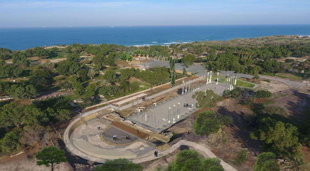 הדמיה עתידית של הבזיליקה - קרדיט רשות העתיקות וצורמל טורנר אדריכלות נוף