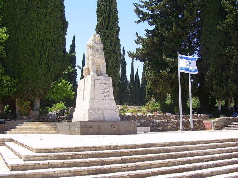 פסל האריה השואג בכפר גלעדי. צילום: דר' אבישי טייכר