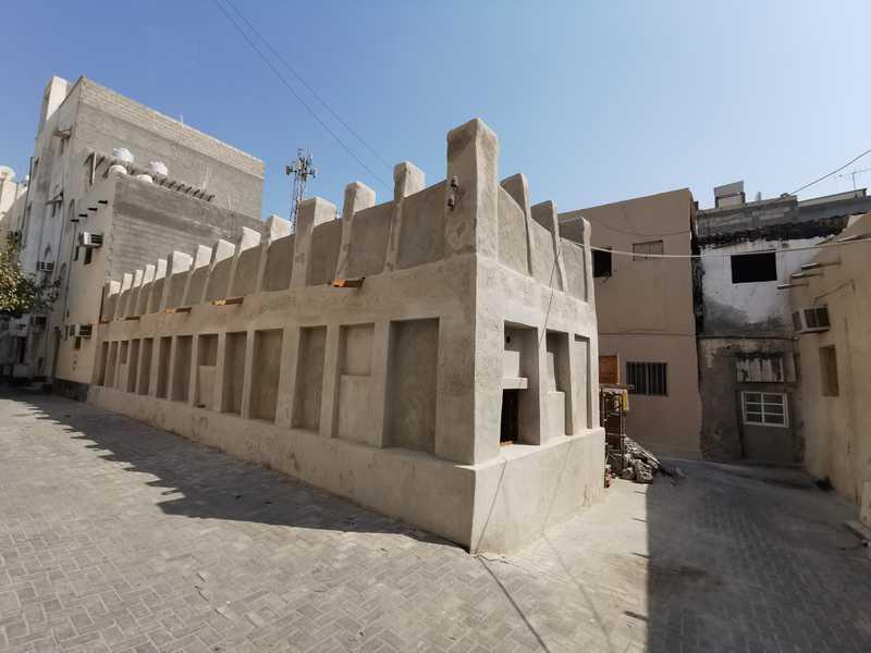 Umbau und Neubau eines historischen Neubaus an der Pearl Road in der Altstadt von Muharraq